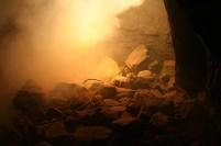 Underground explosion...